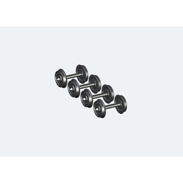 Scheibenradsatz AC für Spitzenlagerung, Durchmesser 11.5mm, Achslänge 23,1mm. 4