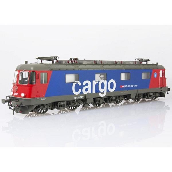 """NEU Spur 0: SBB Re 620 047-1 """"Bex"""" Cargo-blau, eckige Scheinwerfer, ohne Klima"""