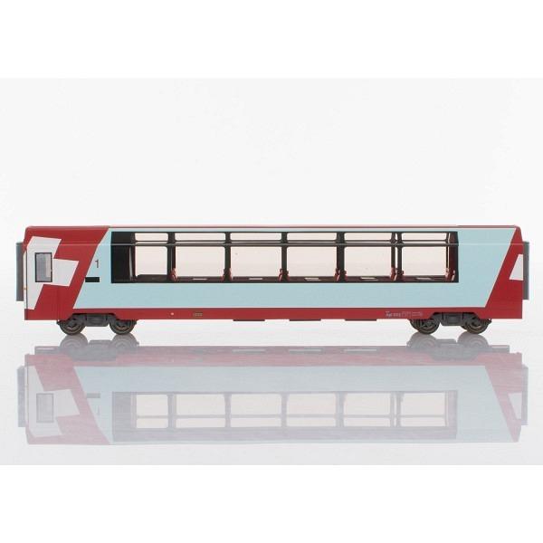 "RhB Api 1312 ""Glacier-Express"" Panoramawagen 1. Klasse für H0 inkl. LED-Innenbeleuchtung"