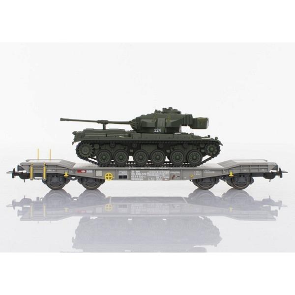 SBB PzTrsp-Wagen Simmnps 130-1 mit Pz 57 Centurion ohne Schürze