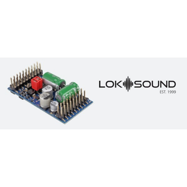 """LokSound 5 L DCC/M4 mfx/MM """"Leerdecoder"""" - Stiftleiste mit Adapter."""