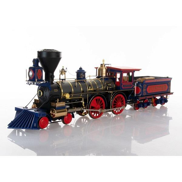 """Dampflokomotive """"Jupiter"""" der Central Pacific RR."""