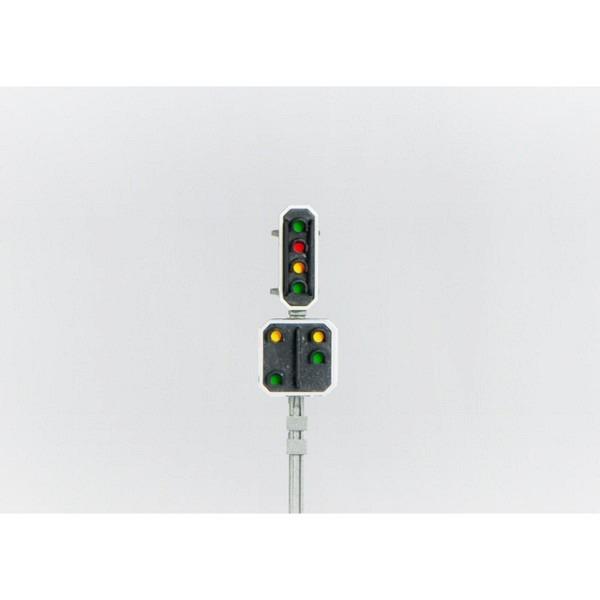 SBB Hauptsignal/Vorsignal, 4flammig mit integriertem Q-Decoder.