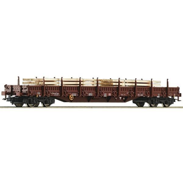 DB Rungenwagen mit Bretterstapelbealdung