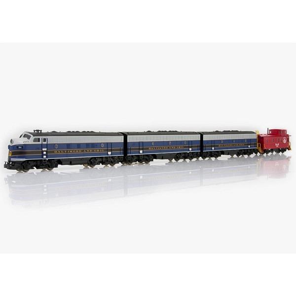 3-fach-Einheit Diesellok F7 Baltimore & Ohio mit mfx-Sound-Decoder. Mit Caboose