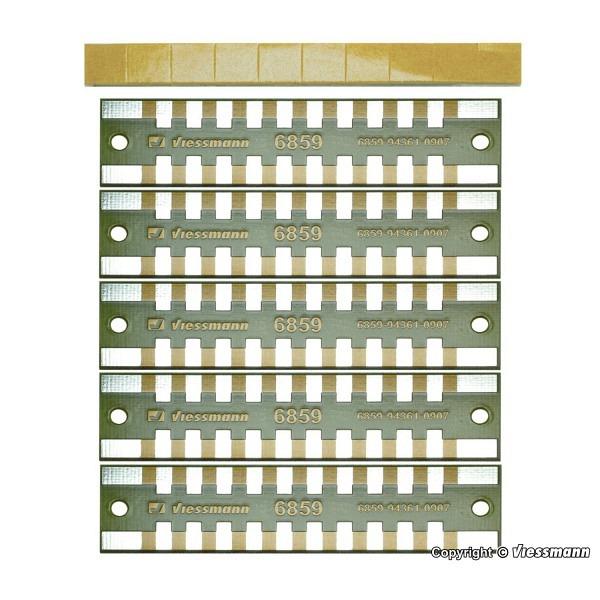 Löt-Verteilerleisten 2-polig, 5 Stück