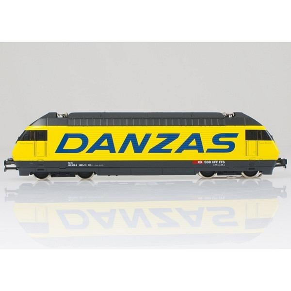 """SBB Re 460 018-5 """"Danzas"""" mit LED + ESU LokPilot M4 V4.0-Decoder (ohne Sound)."""