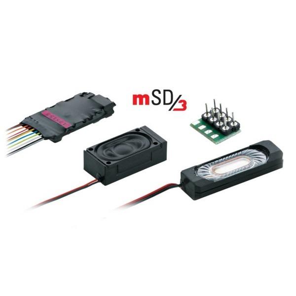 SoundDecoder mSD3-Dampflok mit Kabelbaum. Voreingestellter Sound einer Dampflok